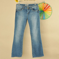 free shipping 2012 women's boot cut jeans trousers plus size 4p21k