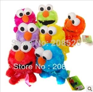 AD049 free shipping (7pcs/lot) 18cm America sesame street elmo plush toy doll colorful/kids gift(China (Mainland))