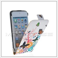 BUTTERFLY STYLE LEATHER FLIP POUCH CASE COVER  FOR APPLE IPOD TOUCH 5 5G FREE SHIPPING
