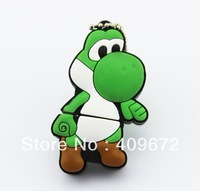 Wholesale!  Plastic super Mario yoshi model  USB 2.0 enough memory stick 4G 8G 16G 32G  can exchange for other models