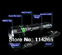 Convenient to carry 3 * AAA / 18650 Li-ion battery Zoomable ultrafire Cree XT T6 Q5 LED Flashlight 7W 700 Lumen Fedex shiping