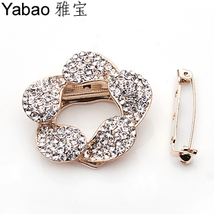 Yapolo silk scarf buckle dual silk scarf buckle brooch full rhinestone silk scarf buckle silk scarf buckle d0033(China (Mainland))