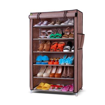 Simple shoe single-row 6 large capacity 40s-the shoe hanger