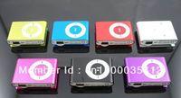 DHL 300PCS TF Micro SD Slot Clip MP3 Player Metal Mini MP3 Player 8 Colors Free Shipping