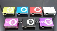 DHL 300PCS TF Micro SD Slot Clip MP3 Player Metal Mini MP3 Player 8 Colors Free Shipping