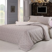 fashion cotton beding set 4 pcs duvet cover set letter design beige