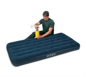 New inflatable single flocked air bed camping luxury - Matelas gonflable ez bed ...