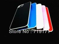 1pcs/lot free ship New Carbon Fibre Clip On Back Case Cover for Apple iPhone 5 5G +1pcs film