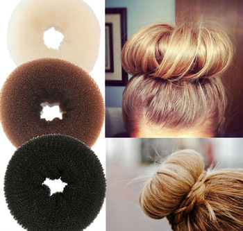 Hair Volumizing Scrunchie Donut Ring Style Bun Scrunchy Sock Poof Bump It Snooki ,EMS free shipping 300pcs/lot
