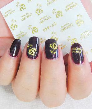 Diy nail art water transfer printing applique nail art tools supplies colored drawing finger gold rose