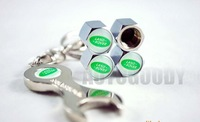 Free shipping,Car Logo Tire Valve Caps 4pcs+Wrench key chain for Opel,Car Accessories(Min.order:1 set)