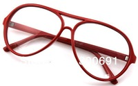 10pcs/lot Vintage double big frame plain mirror plain eyeglasses frame glasses frame belt lenses