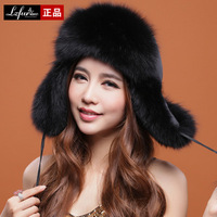 2013 Ladies' Fashion Real Fox Fur Bomber Hats Women Charm Warm Caps Free Shipping