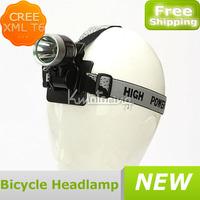 1800lm Bike Waterproof Led Headlight Flashlight Lamp 8.4V Bicycle Cree T6 Xml Safety Head Lamp Cycling Headlamp Free Shipping