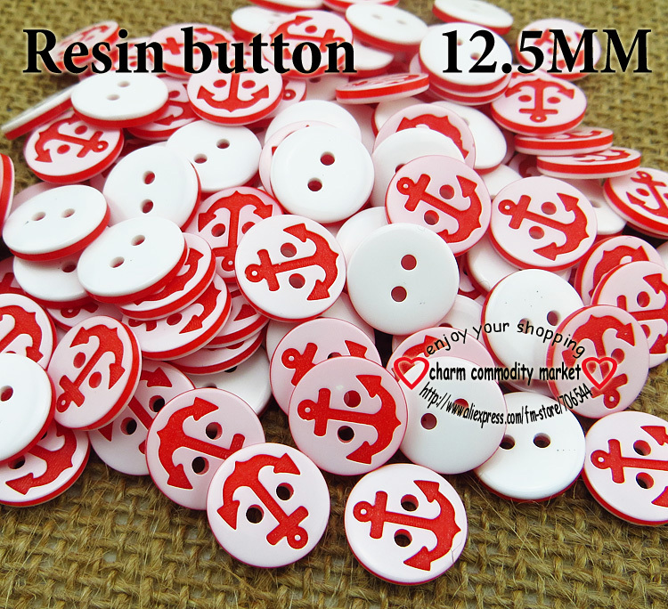 200PCS anchor buttons wholesale clothes sewing accessories clothing button R-067(China (Mainland))