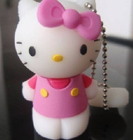 Free Shipping USB Flash Drive, Full Capacity Cute Hello Kitty Flash Memory Device Stick 2G,4G,8G, 16G,32G