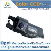 Free shipping For Opel Vectra Astra Zafira Corsa Insignia Meriva antara vivaro CCD night vision Car rear view camera HD color