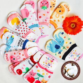 100% cotton cartoon pattern baby socks baby socks straight socks children socks ww26