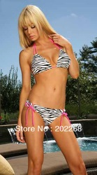 Ladies Zebra Bikini Swimsuit Swimwear Summer Clearance Underwear Sexy Lingerie(China (Mainland))