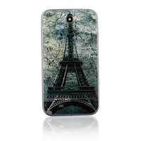 Relief Eiffel Tower Battery Cover Rear Case For Samsung Galaxy Note 2 II N7100