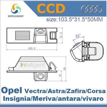 For Opel Vectra Astra Zafira Corsa Insignia Meriva antara vivaro HD color CCD night vision Car parking backup camera