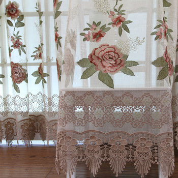 Luxury quality embroidery curtain water soluble embroidered curtain finished product tt8013