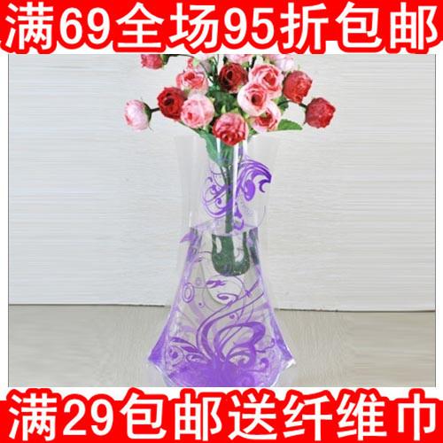 Novelty houselinen eco-friendly Large plastic folding vase yiwu(China (Mainland))