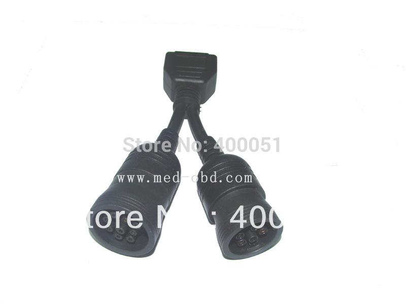 Диагностические кабели и разъемы для авто и мото YASON OBD2 Y OBD2 16pin J1708 6pin