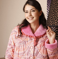 sleepwear thickening autumn and winter cotton-padded m1809 lounge