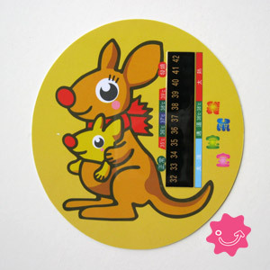 Free shipping Kangaroo baby thermometer water temperature card thermometer lcd temperature card