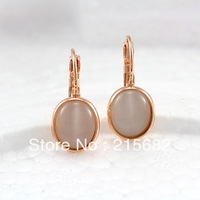 Italina opal earrings female models simple and elegant 18K rose gold-plated high-grade temperament earrings  kedol-EE69