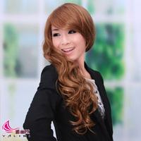 YaLiSi wig inclined bang long fluffy golden COS non-mainstream wig wig Korean model