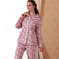 A delicate  cotton-padded winter thickening ultrafine velvet cotton-padded sleep set