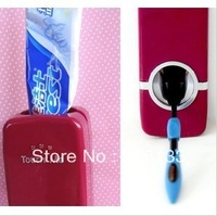 Wholesale - New Automatic Toothpaste crowd Dispenser & Brush holder holders SET