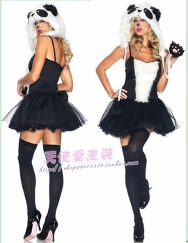 Animal Costume for Halloween Costume national treasure panda catwoman tomcat couture fluffy skirt COSPLAY condole