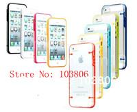 Noctilucent  Ultra-thin Clear / Transparent Bumper Case Skin PC Frame For iPhone 5 5G 5Gen