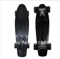 "Free Shipping 22"" Penny Original Plastic Banana Board Mini Crusier Black Stereo Cruiser Complete Skateboard"