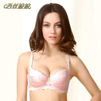 Silk push up underwear bra mulberry silk summer new arrival pink sexy 2010