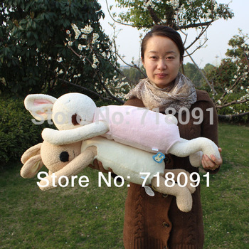 Drop Free Shipping Le sucre Bunny Stuffed Rabbit Pillow and Cushion For Girls' and Kid's Gifts,76x15cm,1PC