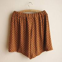Polka dot loose culottes elastic waist shorts brief sweet elegant 2013 women's