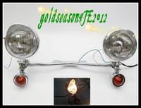 Driving/passing Turn Signal Spot lights Bar Lamp For Harley Suzuki Honda Kawasaki Vulcan Yamaha