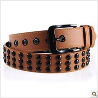 Male fashion personality rivet strap belt