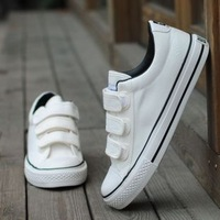 free shipping Spring tide of the velcro solid color male canvas shoes lovers shoes low shoes casual shoes male