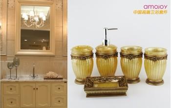 free shipping  Resin five pieces set everydays wash set hotel bathroom supplies kit  poly resin art handicraft