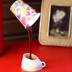 Light coffee usb battery dual lamp coffee small table lamp small night light magicaf cup energy saving lamp(China (Mainland))