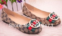 new fashion beautiful square head flat bottom shoes Size: 35-40 Free shipping