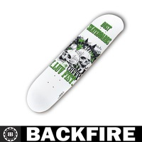 Backfire skateboard top high quality Amercian wood skateboard deck for skateboarding--Skull