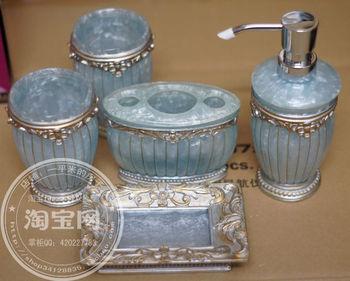 Free shipping decoration resin 5 pieces set bathroom set bathroom supplies kit toiletries hotel supplies wash set