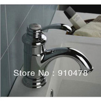 Modern Design Bathroom Sink Basin Faucets Brass Mixer Water Taps Chromed Polished Single Handle New Free Shipping