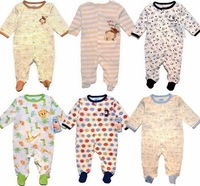 100% cotton baby bodysuit baby pack long climbing romper baby sleepwear multicolor